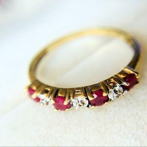 Jewelry - 10K Genuine Ruby And Diamond Ring